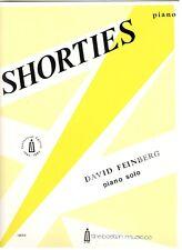 DAVID FEINBERG PIANO SOLO SHORTIES SHEET MUSIC-CENTENNIAL EDITION-RARE-BRAND NEW