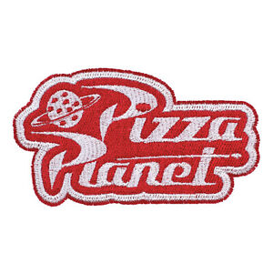 Disney Pixar Toy Story Pizza Planet Logo Embroidered Iron-On Patch, New