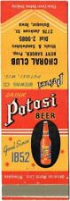 1930s Dubuque Iowa Choral Club Sauser Potosi Beer Matchcover Tavern Trove