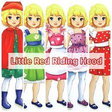 LITTLE RED RIDING HOOD 2 Paper dolls Hobby Fun Kids Activity Fine Motor Skills