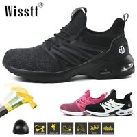 Women Safety Work Shoes Steel Toe Boot Outdoor Air Cushion Sneakers Hiking Sport