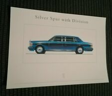 Rolls Royce Silver Spur Mulliner Park Ward with Division Limousine Brochure 95