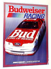 1988 Budweiser Racing Junior Johnson Ford Race Team original poster