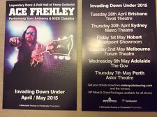 Small FLYER ONLY Ace Frehley (KISS) Invading Down Under Apr / May 2015