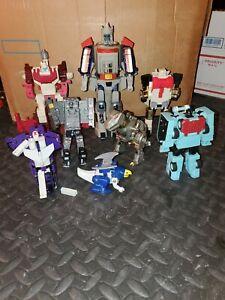 Lot of Vintage G1 Transformers Scattershot Galvatron Flamefeather Hotspot