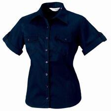 Camisas y tops de mujer de color principal azul 100% algodón talla XS