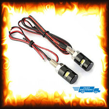 2 x Black White LED SMD Motorcycle Car License Plate Stud Screw Bolt Light