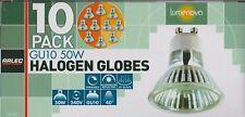 10 Pack x 240V GU10 50W Halogen Downlight Globes Dimmable UV block - FREE SHIP