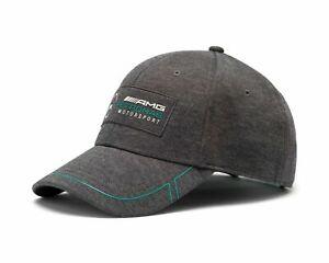 Mercedes AMG Petronas F1 Puma Baseball Cap CHARCOAL Hat Adults One Size