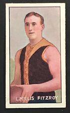 1907 SNIDERS CIGARETTE CARD AUSTRALIAN FOOTBALLERS L MILLIS FITZROY