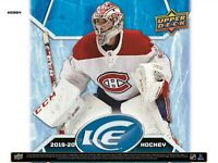 2019-20 UPPER DECK ICE  BOX BREAK # 36 - SELECT A TEAM