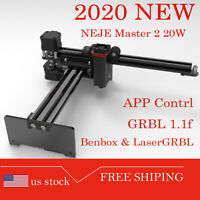 NEJE Master 2S 20W CNC Laser Engraving Milling Machine Engraver Cutter Printer