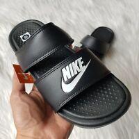 Nike Benassi Duo Ultra Slide Sandals in Black/White Womens Sizes 7/8/9/10