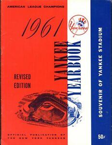1961 New York Yankees Revised Yearbook EXMT