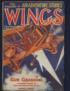Fiction House WINGS Pulp Magazine November 1928, FRANK MCALEER Cover Art, FINE