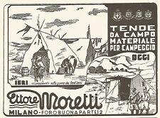 Y2415 Tende da Campo Ettore Moretti - Illustrazione - Pubblicità del 1942 - Ad