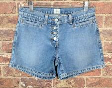 VTG Calvin Klein Blue Jeans Denim Button Front Exposed Shorts - 2 -