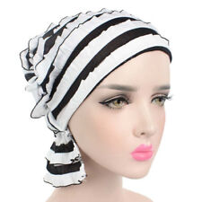 Womens chiffon Hair Loss Head Scarf Cancer Hat Chemo Cap Turban Head Wrap Cotton