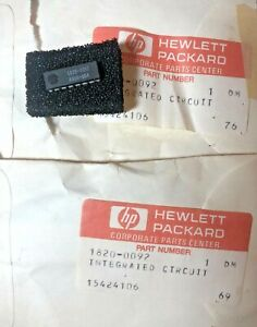 HP 1820-0092 Nixie Driver Integrated Circuit Hewlett Packard Pair Unused Sealed