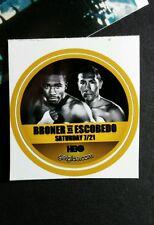 """BRONER VS ESCOBEDO FIGHT MATCH TV SMALL 1.5"""" GETGLUE GET GLUE STICKER"""