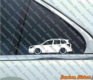 2x Lowered car stickers -for Subaru Forester XT , SJ (4t gen, 2014-) L998