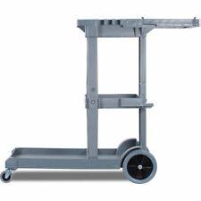 Carlisle Jc1945s23 Gray Short Platform Janitorial Cart