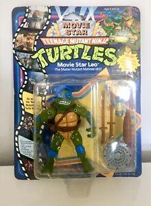 Teenage Mutant Ninja Turtles Movie Star Leo MOC MISB BNIB Vintage TMNT Leonardo