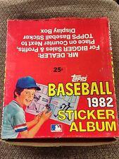 BOX OF 12 1982 Topps Baseball Sticker book unused Album GARY CARTER  EXPOS