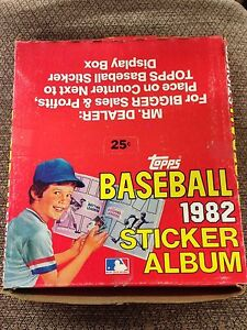 BOX OF 12 1982 Topps Baseball Sticker book unused Album GARY CARTER  EXPOS