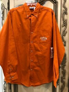 TEXAS LONGHORNS UT Red Oak Long Sleeve Button Down Men's Shirt Sz Large NWT