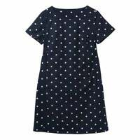 Joules Fifi Print Shift Dress (Navy Spot)