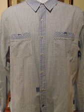 English Laundry Blaque Label Christopher  Men's Blue checked  XL