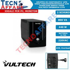 Gruppo di Continuità UPS 800VA 440W AVR PC DVR Stabilizzatore Vultech