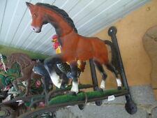 support plante ou fleurs en fonte un cheval patinée de ces couleurs ...