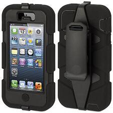 Iphone 5C Coque Etui intégrale Militaire Noir Apple Iphone 5 C + film
