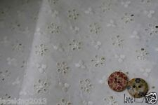 "Half-Yard Broderie Anglaise cotton eyelet lace Fabric 55""  yh787a laceking2013"