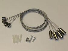 Seilabhängung Befestigung SET4x Seil Aufhängung für LED Panel Deckenbefestigung