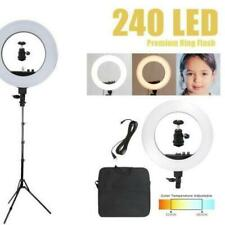 """18"""" LED Photography Ring Light 5500K Photo Video with Stand Mobile Phone Clip"""