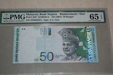 (PL) RM 50 ZF 0264221 PMG 65 EPQ ZETI 11TH SERIES REPLACEMENT NOTE GEM UNC