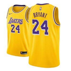Kobe Bryant #24 Los Angeles Lakers Men's Gold w/ purple # Jersey