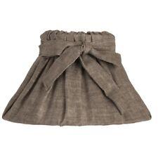 Lampenschirm grau mit schleife Stoff Waschbar E27 Vintage Shabby
