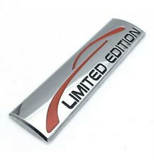 1X3D Metal SILVER LIMITED EDITION Logo Car Emble Badge  Sticker Decal Rear Trunk