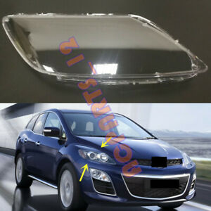 Both Side Transparent Headlight Cover + Glue Replace For Mazda CX-7 2008-2011