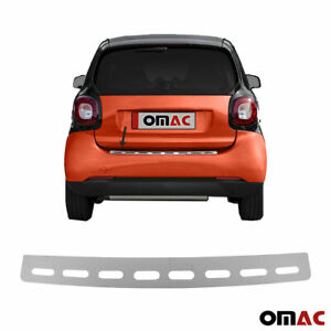 Fits Smart ForTwo 2016-2019 Chrome Rear Bumper Guard Trunk Sill Cover S.Steel