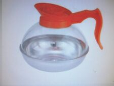 COFFEE DECANTERS PLASTIC W/STAINLESS STEEL BASE 64 OZ ORANGE SPOUT