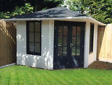 5 Eck Gartenhaus Blockhaus Holz 298x298, 40mm, mit Fußboden, 403922