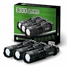 LED Tactical Flashlight Small Bright Mini Light Great Gift for Men [3 PACK]