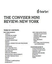 New York Bar Exam Barbri The Conviser Mini Review Consolidation Revision NEW