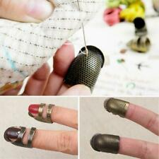 Retro Thimble Needles Sewing Quilting Metal Ring Leather Protector Craft