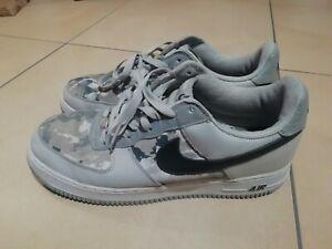 Nike Air Force 1 Af Sondermodell Camouflage Grau Weiß Gr 45. 5